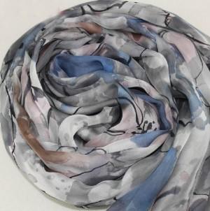 ピュア蚕糸 スカーフ マフラー 優雅