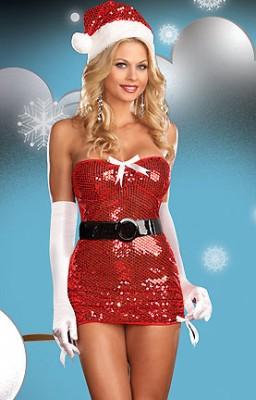 パーティードレス クリスマス衣装 サンタドレス コスプレ