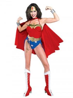 Wonder Woman Diana スパンデックス&ラバー シューパーヒーロー 全身タイツ衣装
