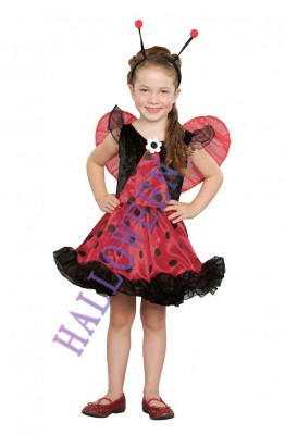 ハロウィン 衣装 コスプレ ガール テントウムシ服 子供用 コスチューム