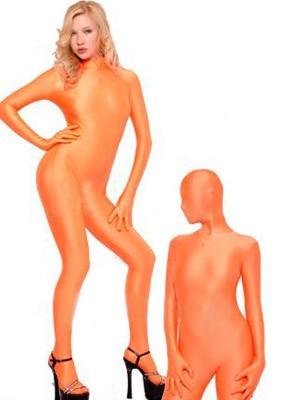 覆面キャットスーツ(オレンジ)衣装
