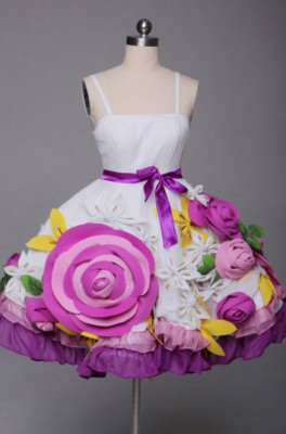 ギルティクラウン 楪 いのり 豪華花ドレス コスプレ衣装
