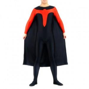 ブラック/レッド ライクラ キャットスーツ衣装