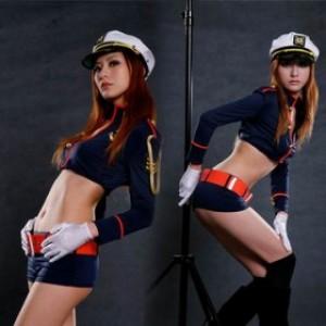セクシー風 ポリエステル 警察官制服 4点セット