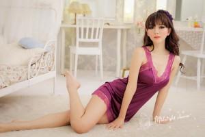 セクシーランジェリー下着、紫色に染まる高貴感に溢れるお姫様、ランジェリーパジャマ