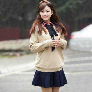 激安女子高生制服スクール学生女子冬Vネックセーター中学校高校   学生制服