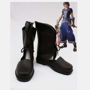 ファイナルファンタジーXIII-2 ノエル・クライス ブラック 合皮 ゴム底 低ヒール コスプレ靴