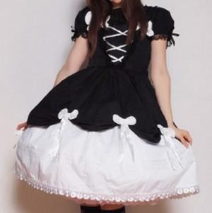 胡蝶蘭ジャンパースカート  ゴスロリ ロリータ パンク コスプレ コスチューム メイド衣装