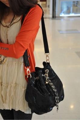 韓国派 かごバッグ牛革 ショルダーバッグ 肩がけ ミニカバン 2013新作 トラッド 海外 レディース 本革 ファッション