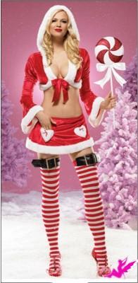 フード付き ミニサンタクロース クリスマス衣装
