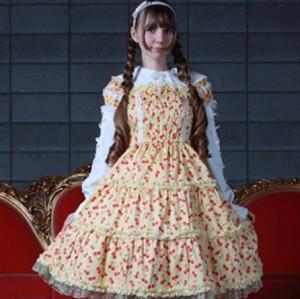 キアラ サクランボ柄ドレス  ゴスロリ ロリータ パンク コスプレ コスチューム メイド 衣装