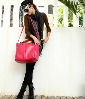 2013新作 韓国派 ファッション カジュアル レディース 本革 ハンドバッグ ショルダーバッグ 肩がけ トートバッグ