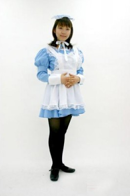 りぼんちゃんメイド 色:水色 サイズ:M衣装
