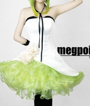 人気激安☆初音ミクVOCALOID2 つばき◆Megpoid(メグッポイド) GUMI(グミ) コスプレ衣装