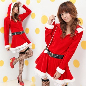 長袖サンタクロース衣装 コスプレ コスチューム クリスマス衣装