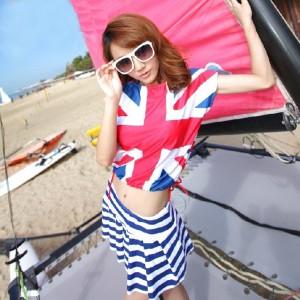 ファッション旗風レデイース水着 分体式ビキニ 4点セット