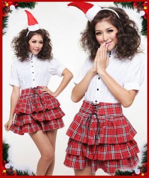 学生サンタクロース衣装 コスプレ コスチューム クリスマス衣装