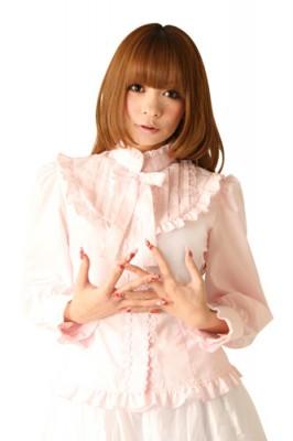 Cream dollブラウス衣装 フリルリボン色:ピンク サイズ:M