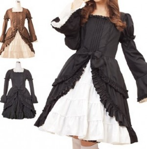 落ち着いた雰囲気のマクベスノーブルドレス  ゴスロリ ロリータ パンク コスプレ コスチューム メイド衣装