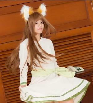 狼と香辛料 ホロ 風 人気ワンピース コスプレ衣装