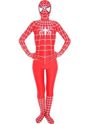 スパンデックスゼンタイフェア 全身タイツ  赤白しま衣装