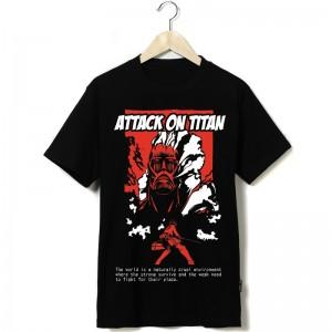 大人気Tシャツ 進撃の巨人 ミカサ個性的な純綿Tシャツ