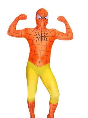 スパンデックスゼンタイフェア  全身タイツ オレンジ衣装