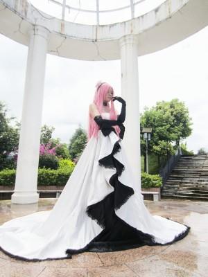 激安人気コスプレ VOCALOID 巡音ルカ ホワイトドレス コスプレ衣装