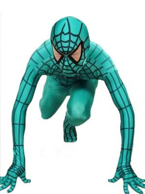 グリーンとブラック ライクラ スパンデックス スパイダーマン 全身 タイツ衣装