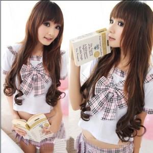 セクシーリボン学生制服 日本学生制服 コスプレ衣装 ホテル制服 ステージ衣装