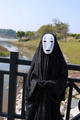 千と千尋の神隠し カオナシ コスプレ衣装 マスク付き