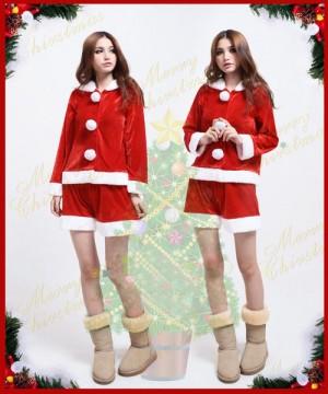 クリスマス衣装 スタイリッシュカラー サンタコスチューム 長袖