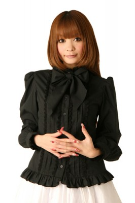 Cream dollブラウス衣装 リボンタイ 色:ブラック サイズ:M