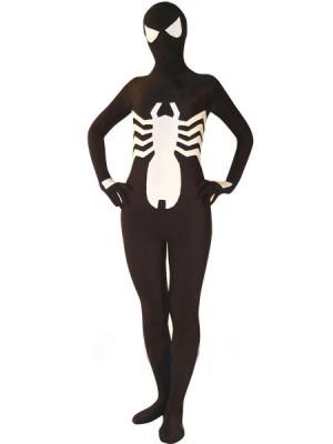 ブラック スパンデックス スパイダーマン 全身タイツ衣装