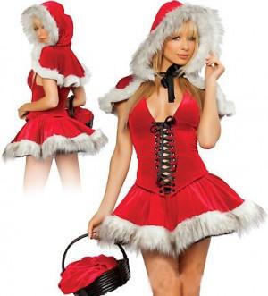 サンタコスチューム クリスマス フード付きマント コスプレ スチューム