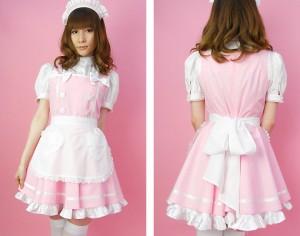 ピンクプリンセス服 可愛いメイド服 コスプレ衣装