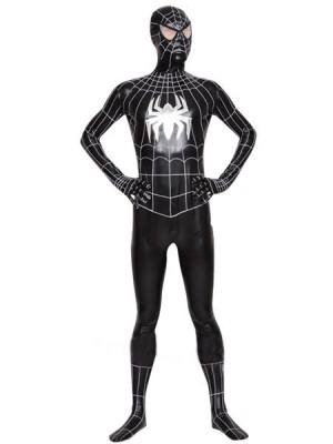 メタリック スパイダーマン 全身 タイツ衣装