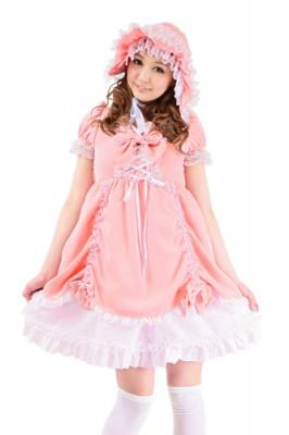 ヴィヴィアンロリータ衣装 色:ピンク サイズ:S/M/L/Men's