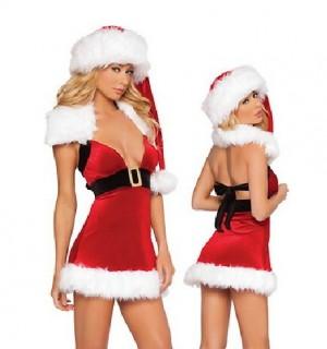 クリスマス衣装 ゴージャスでセクシーなレディースサンタ コスチューム
