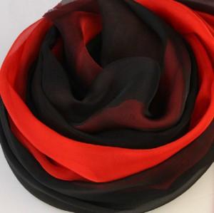 秋冬新作 レディース ロングスカーフ 赤黒一緒に