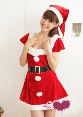 クリスマス衣装 ゴージャスで可愛らしいレディースサンタ コスチューム