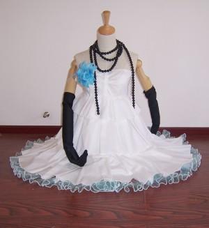 人気激安☆初音ミク VOCALOID ホワイトドレス コスプレ衣装