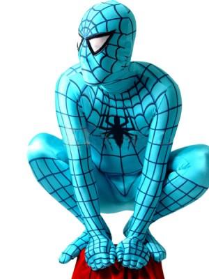 全身タイツ スパイダーマン  (青)衣装