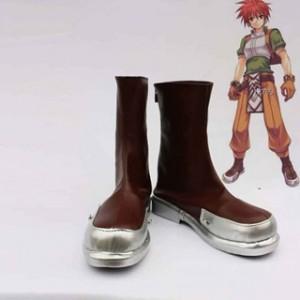 ラグナロクオンライン ノービス ブラウン 合皮 ゴム底 低ヒール コスプレ靴