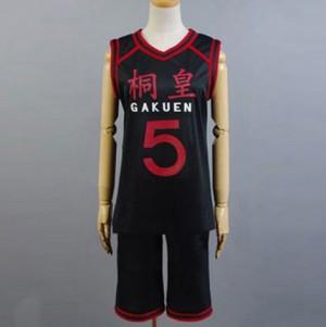 黒子のバスケ 桐皇学園高校 青峰大輝(あおみね だいき) ユニフォーム コスプレ衣装(番号5)