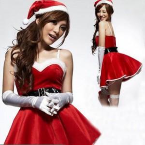 ハニーサンタガールコスチューム クリスマス ドレス