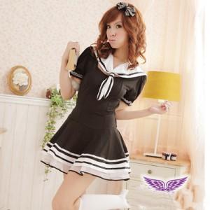 ブラック制服 学生服 スカート プリンセスドレス イブニングドレス ユニホーム制服