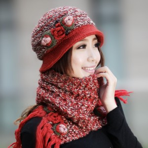 新品韓派帽子女 冬あったか帽子 毛糸帽子