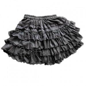 フリル ショート丈 ブラック ゴスロリータスカート