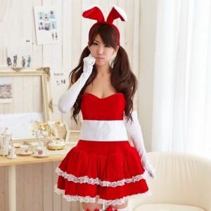バニーガール クリスマス衣装 可愛いサンタコスチューム コスプレ